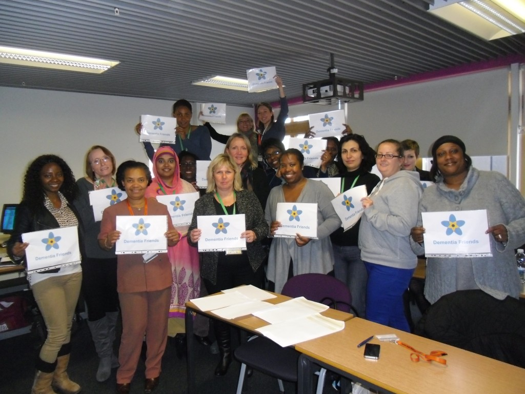 Southbank University students becoming Dementia Friends